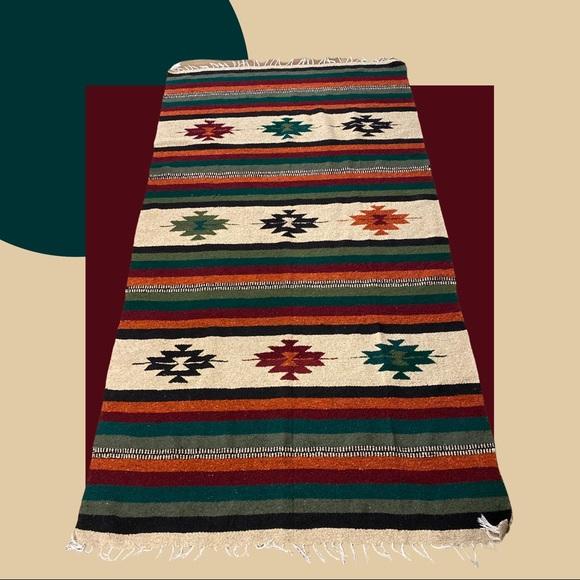 Vintage Aztec Mexican Blanket